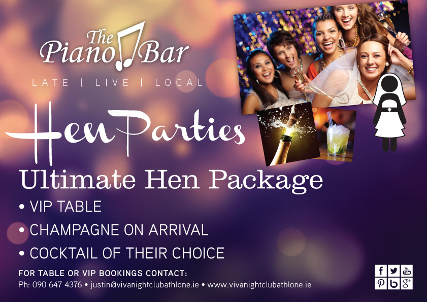 Hen Parties at The Piano Bar Athlone